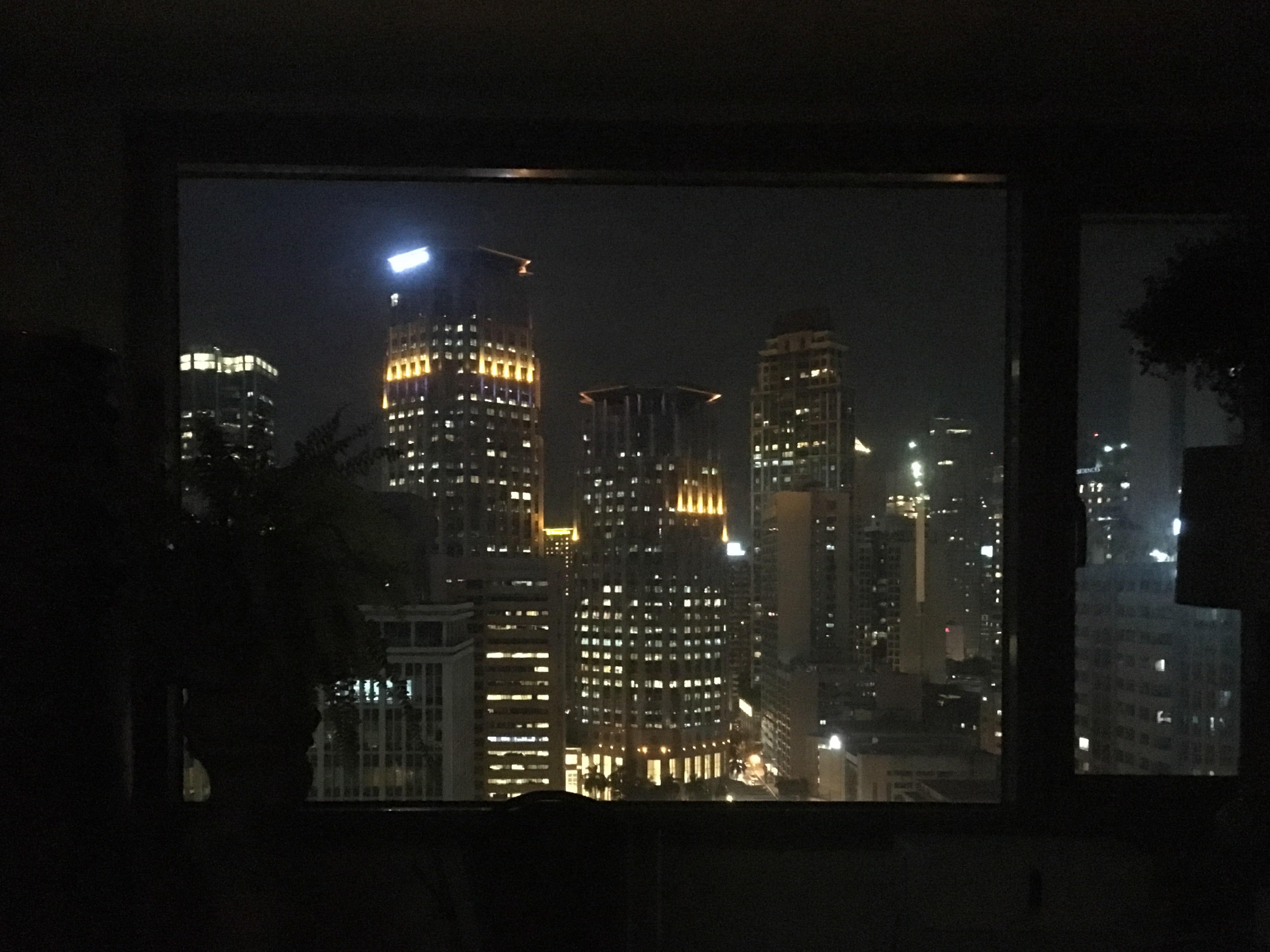 フィリピン、マカティ、オフィス、夜景